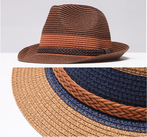 7c1e55f59 Braided Trim Band Fedora Hat – GRACEALLURE