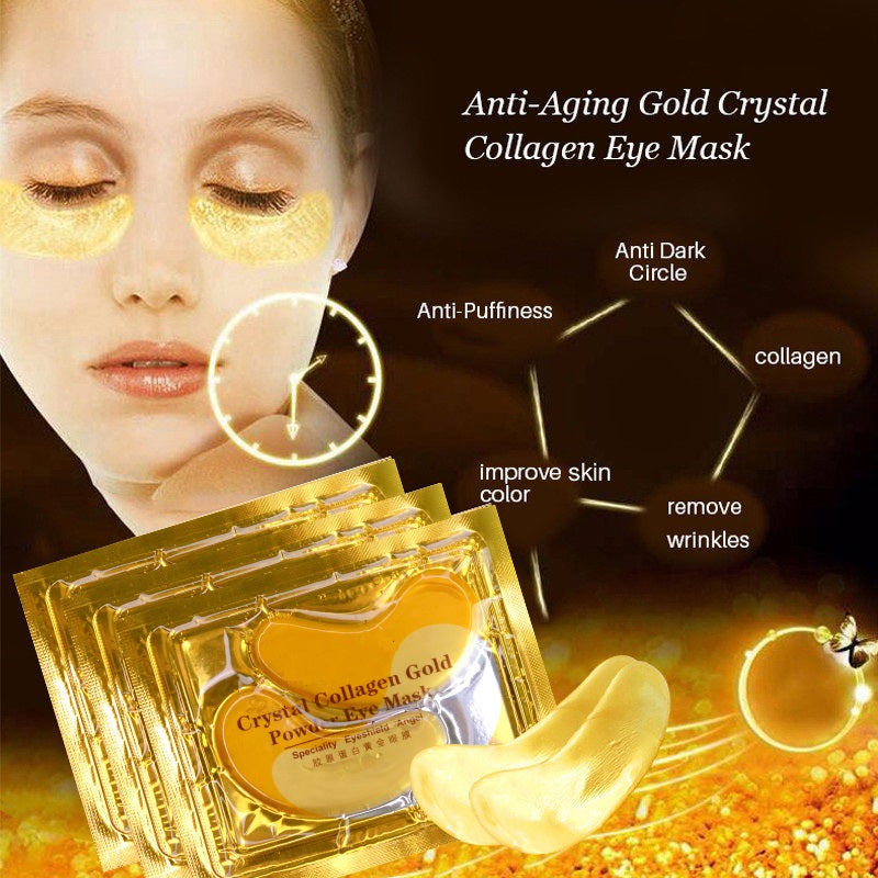 10 Pairs 24k Gold Collagen Eye Mask For Anti-aging And Eye Bags Reduction