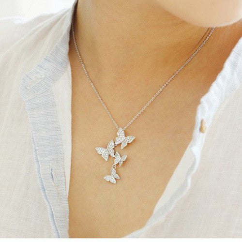Butterfly Sterling Silver Necklace