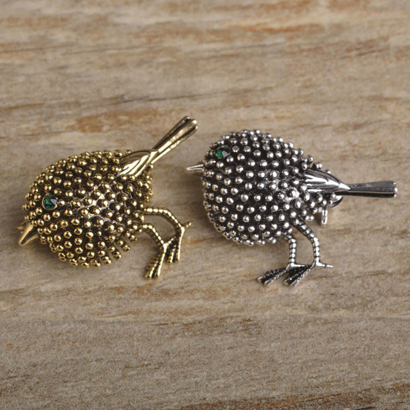 Antique Silver/Gold Plated Bird Brooches