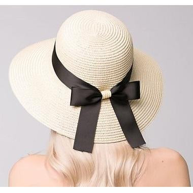 Bowknot Beach Sun Protection Straw Hat