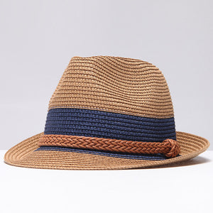 Braided Trim Band Fedora Hat