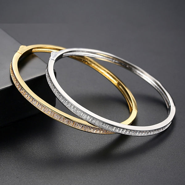 Delicate Cubic Zirconia Bangle Bracelet