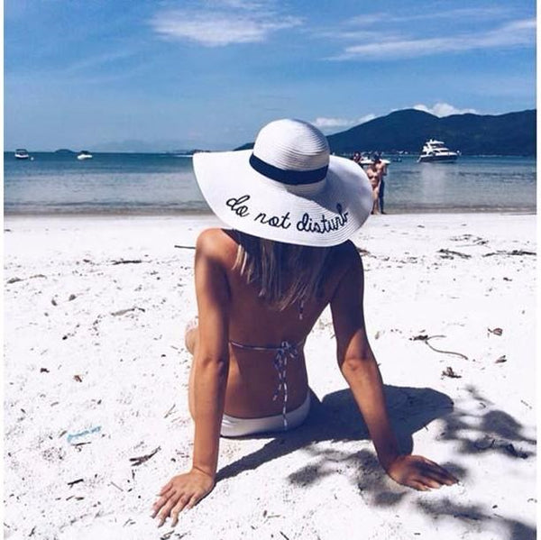 Do Not Disturb Floppy Beach Hat