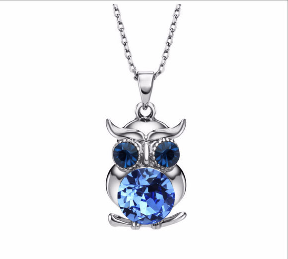 Austrian Crystals Owl Choker Necklaces & Pendants