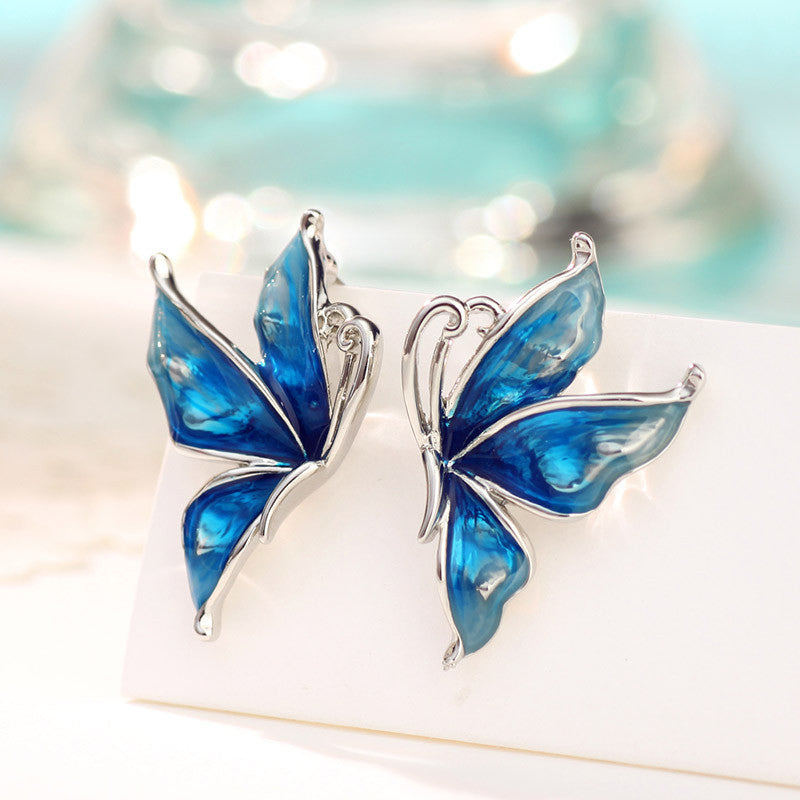 The Blue Butterfly Stud Earrings