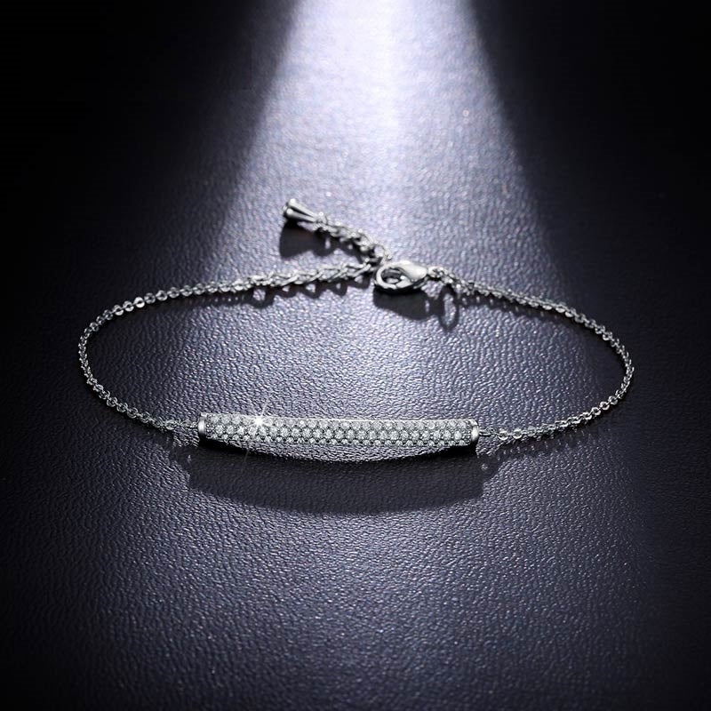 Pavé Bar Tennis Bracelet