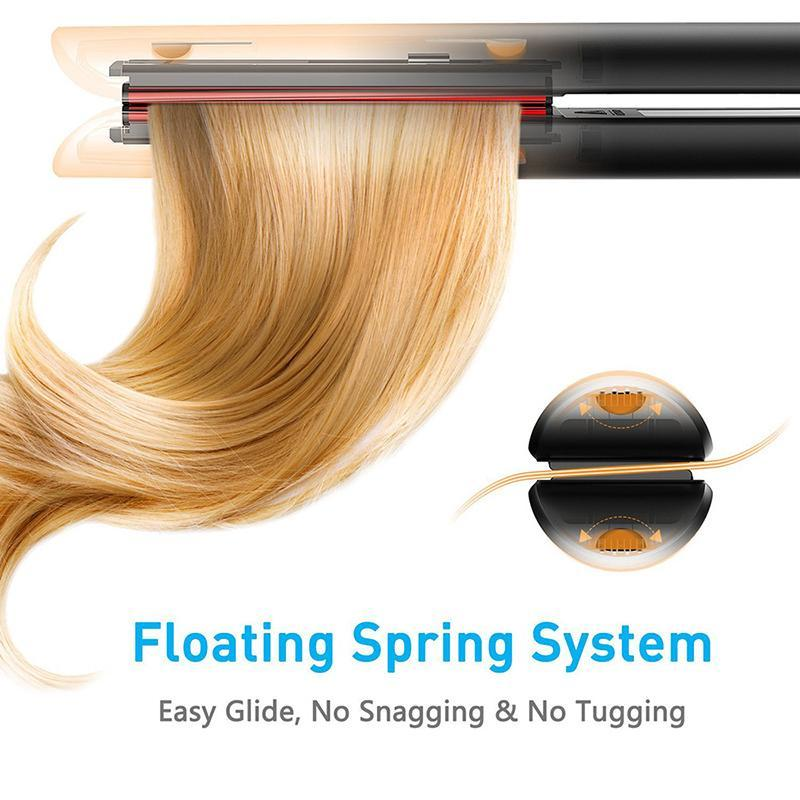 2 in 1 Flat Iron With Rotating Adjustable Temperature