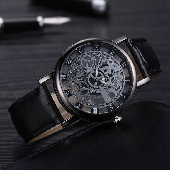 Women Skeleton Analog Quartz Wrist Watch