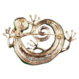 Gecko Brooch With Blue Opals Enamel