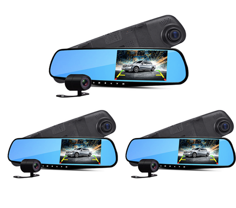 SALE! (3-Pack) UltraCarCam - Dual-lens DVR Car Camera