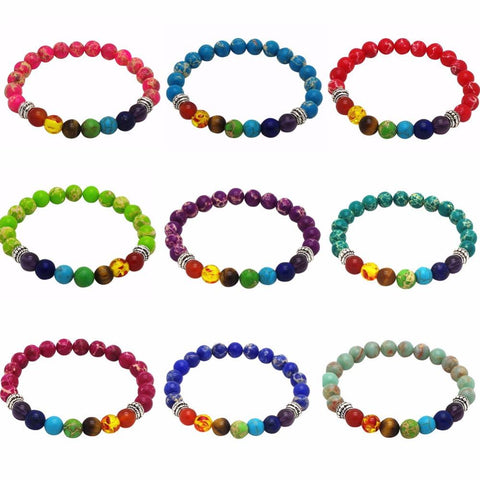 Bracelets - 7 Chakra Diffuser Bracelet Now In Colors