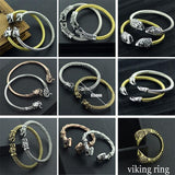 Bracelets - Vikings Two Headed Wolf Bracelet