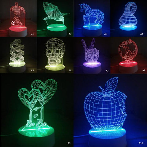 Decorations - 3D Optical Skull Lamp