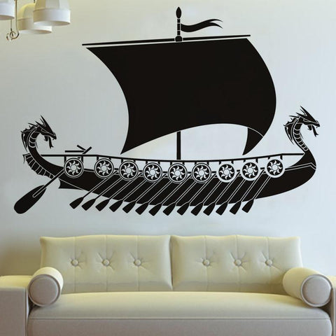 Decorations - Viking Ship Wall Sticker Decor