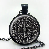 Necklaces - Handmade Viking Cross Runes Pendant