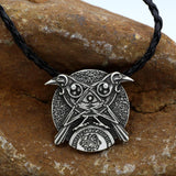 Necklaces - Viking Double Raven Talisman Pendant