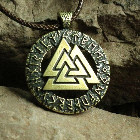 Necklaces - Viking Valknut Pagan Amulet Pendant