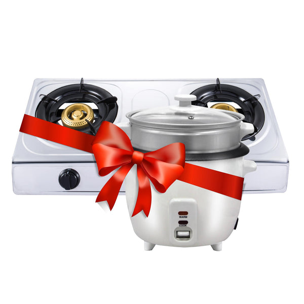 Sanford 2 Burner Gas Cooker-Combo 2 SF-5353GC-COM2 + Sanford 1.8l Rice Cooker-Combo 2 SF-1152RC