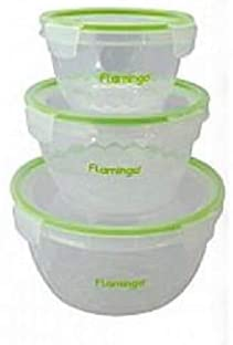 Flamingo 3 Set Of Airtight Food Container - FL 5008ATCST