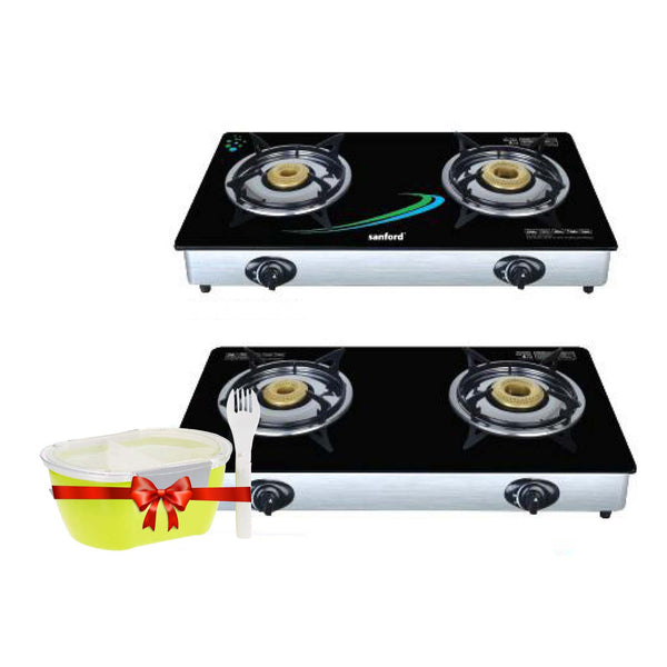 Sanford 2 Burner Gas Cooker - SF 5228GC + Free Lunch Box