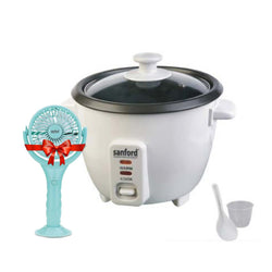 Sanford 0.6L Rice Cooker SF 1157RC + Free Hand Fan