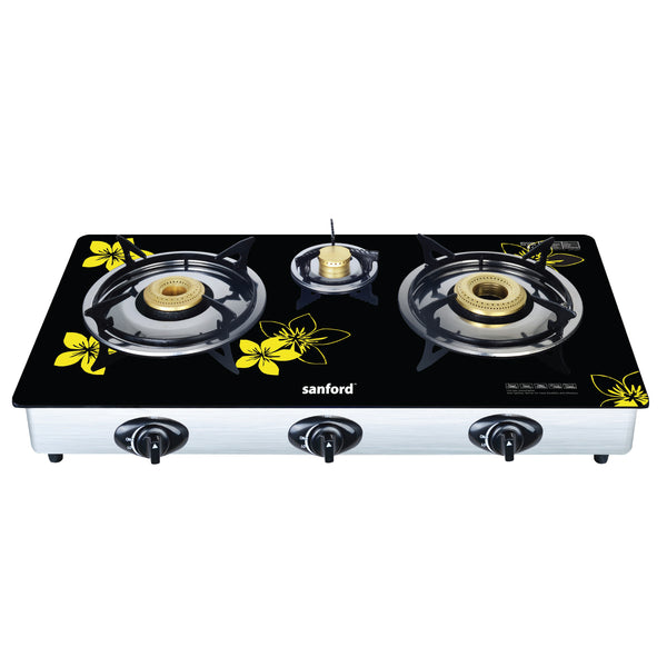 Sanford  3 Burnner Glass top Gas Cooker - SF 5325GC