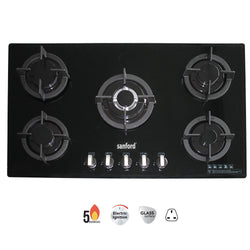 Sanford 5 Burner Glass Top Gas Hob - SF 5458