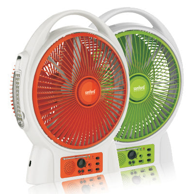 Sanford Twister Rechargeable Fan With Light & Radio - SF 969RTF