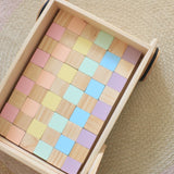 Wooden 48 Piece Block Set - Custom Colours