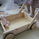 Purple Wooden Trolley