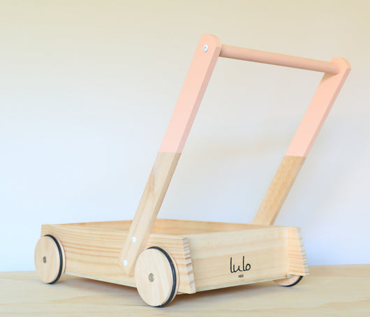 Peach Wooden Trolley