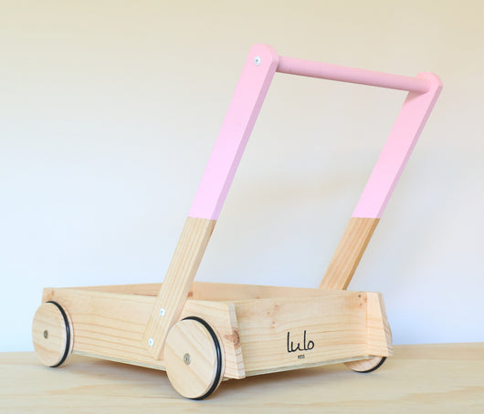 Pink Wooden Trolley