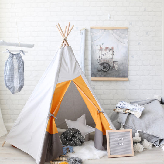 Sample Mustard and Grey Teepee