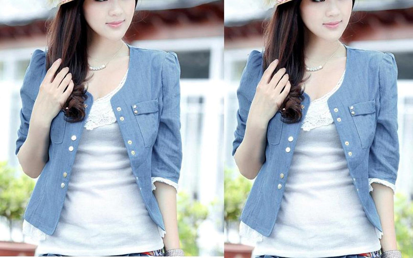 Blue Denim Casual Jacket