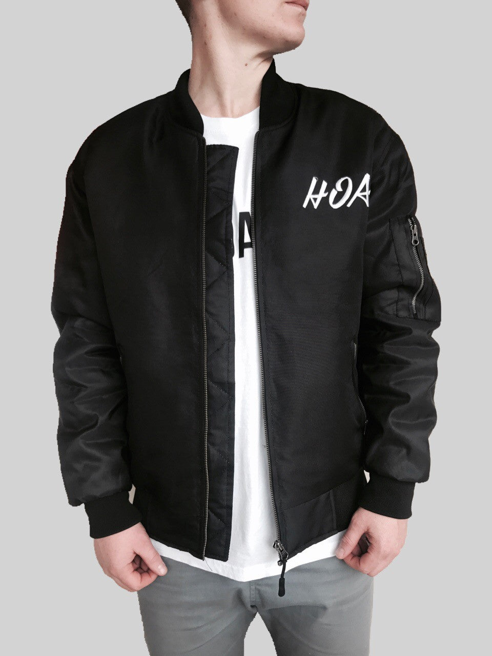 HOA Statement Bomber Jacket Black