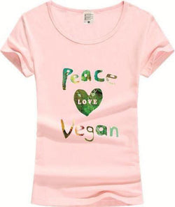Vegan Peace Love T-Shirt (Color)