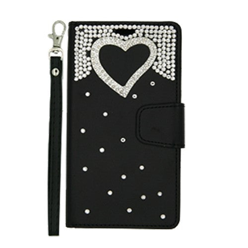 BLING HEART WALLET CASE