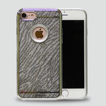 Load image into Gallery viewer, IPHONE SILVER GLITTER ZEBRA CHROME CASE