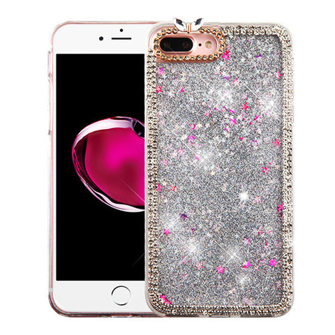 SILVER MINI STAR RHINESTONE CASE
