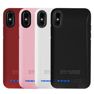 APPLE IPHONE X 4000MAH UV SHINE BACK COVER BATTERY CHARGING CASE