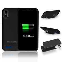 Load image into Gallery viewer, APPLE IPHONE X 4000MAH UV SHINE BACK COVER BATTERY CHARGING CASE
