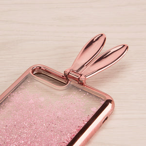 BUNNY EAR LIQUID GLITTER CASE