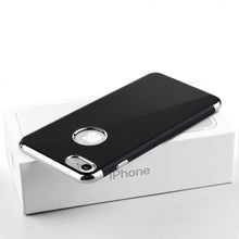 Load image into Gallery viewer, APPLE IPHONE 7 SKYFALL JET BLACK TPU CASE WITH ELECTROPLATED UPPER & LOWER FRAME - SILVER