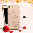 APPLE IPHONE TRANSPARENT TPU WITH CHROME CRYSTAL SKIN CASE BOWTIE