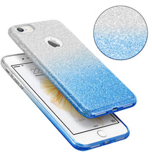 Load image into Gallery viewer, STARRY DAZZLE 2TONE GLITTER CASE SILVER BLUE