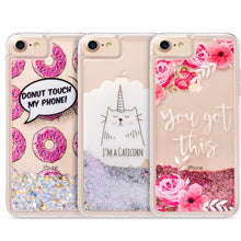 Load image into Gallery viewer, DONUTS LIQUID GLITTER CASE