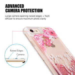 LIQUID GLITTER CASE ROSE