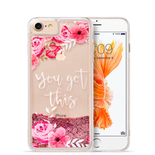 Load image into Gallery viewer, LIQUID GLITTER CASE ROSE
