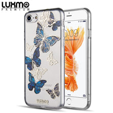 Load image into Gallery viewer, APPLE IPHONE 8 / 7 THE EYE CANDY CAPSULE COLLECTION BLUE BUTTERFLY